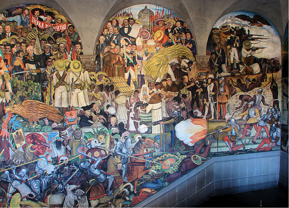 Diego rivera the individual expression of collective for Diego rivera tenochtitlan mural